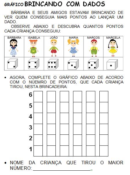 Gráfico BRINCANDO COM DADOS | matema | Pinterest