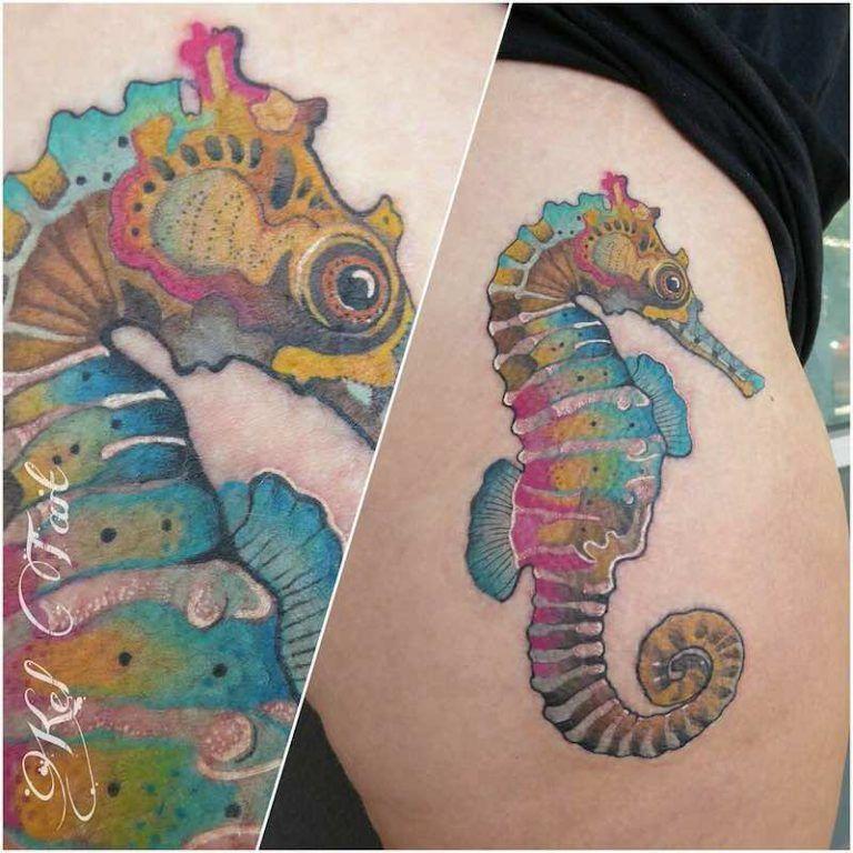 Horse Jaw Tattoo: Seahorse Tattoo, Tattoos, Sea Life Tattoos