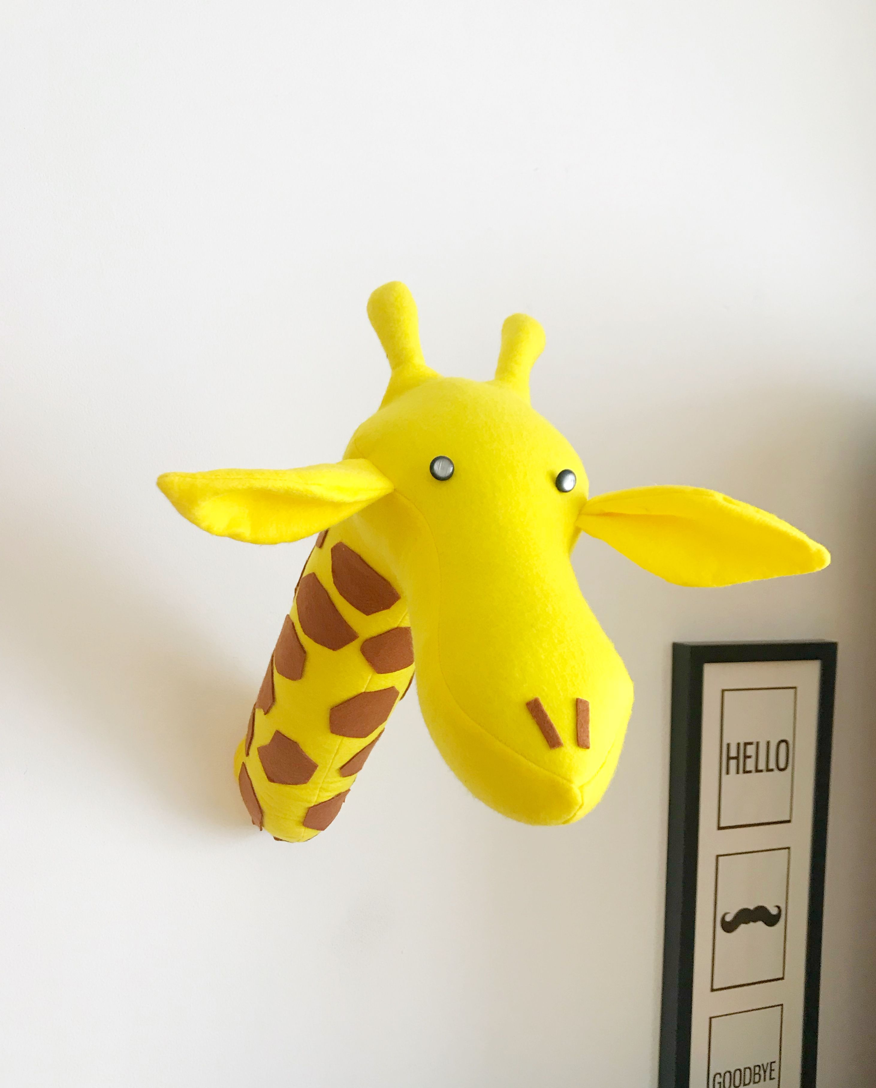 Giraffe Stuffed Animal Head For Wall Mount Baby Room Decor By Kudikisbabybedding Everything For Nursery Dec Baby Shower Giraffe Kid Room Decor Baby Room Decor