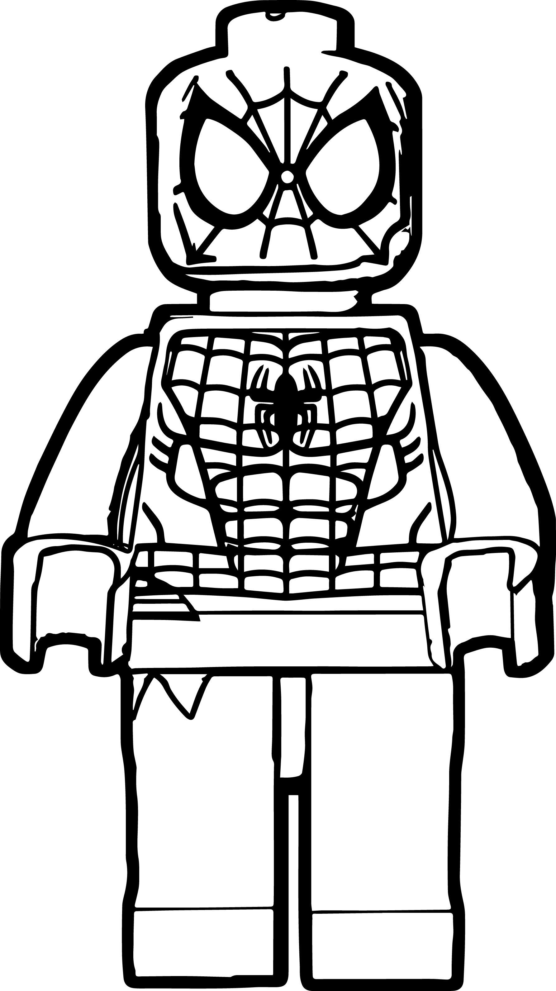 Spider Man Lego Coloring Page Lego coloring pages, Lego