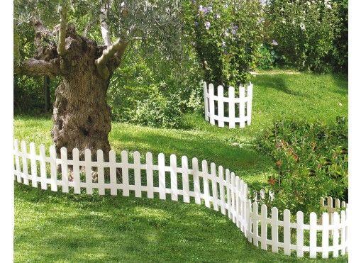 petite cl ture blanche deco cerca de jard n palets et cercas de madera. Black Bedroom Furniture Sets. Home Design Ideas