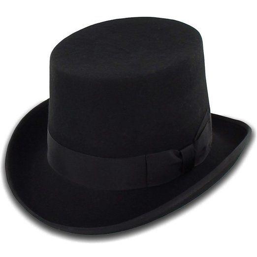 Belfry Topper - Lined Wool Top Hat Men's Small Black