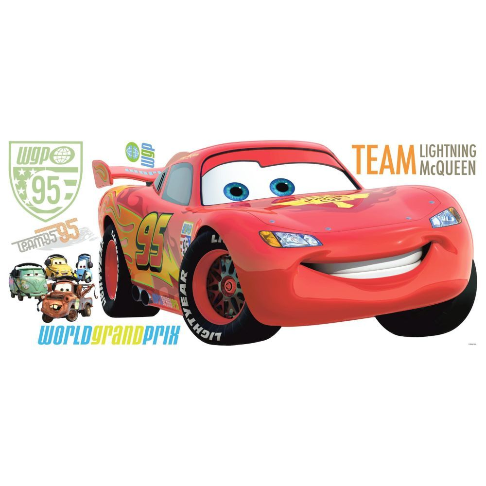 Roommates Disney Cars 2 Peel Stick Giant Wall Decal The Home Depot Canada Disney Wall Decals Lightning Mcqueen Disney Cars [ 1000 x 1000 Pixel ]