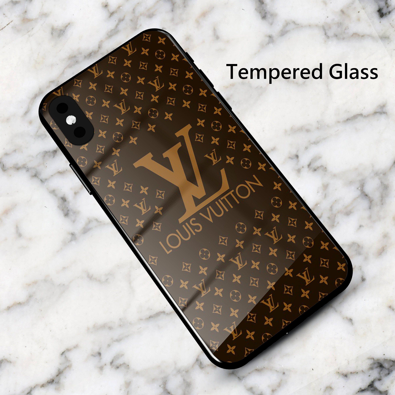 LV Louis Vuitton Tempered Glass Phone Case | Coque de téléphone ...