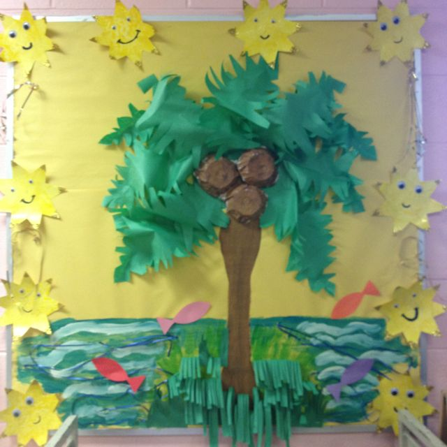 craft ideas kindergarten aloha summer bulletin board everything preschool 1548