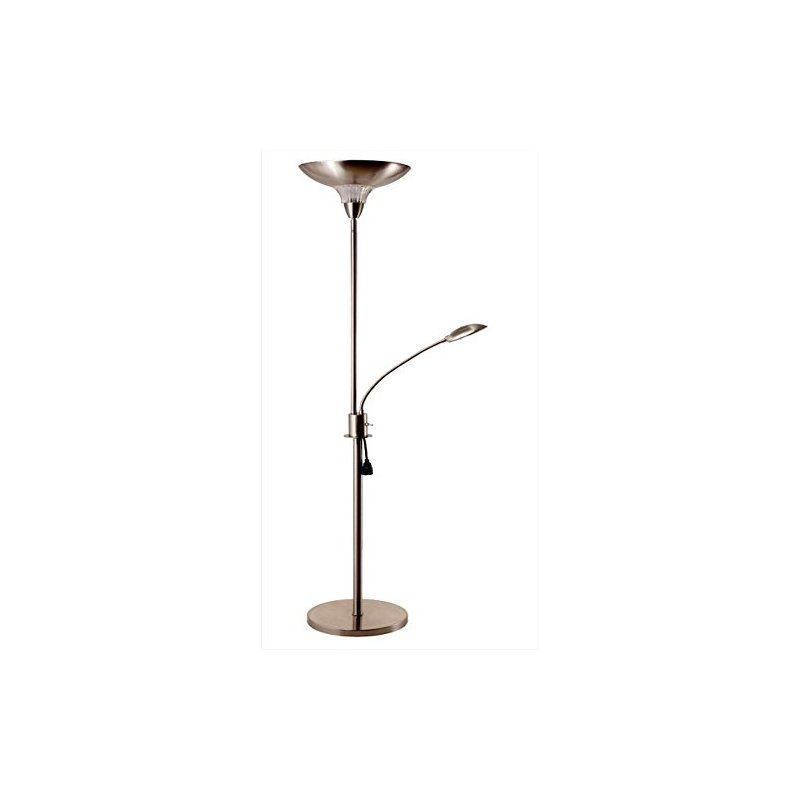 Tall Modern Classic 72 Torchiere Floor Lamp With Reading Light By