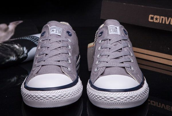 7b0006859abf  converse Big Eye Buckle Converse Arc Design Chuck Taylor All Star Grey Low  Canvas Sneakers