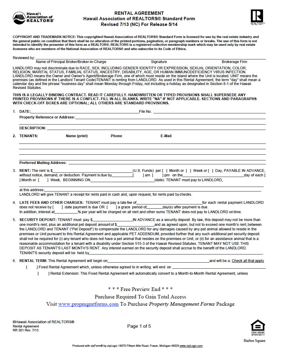 Hawaii Property Management Agreement Property Management Management Agreement
