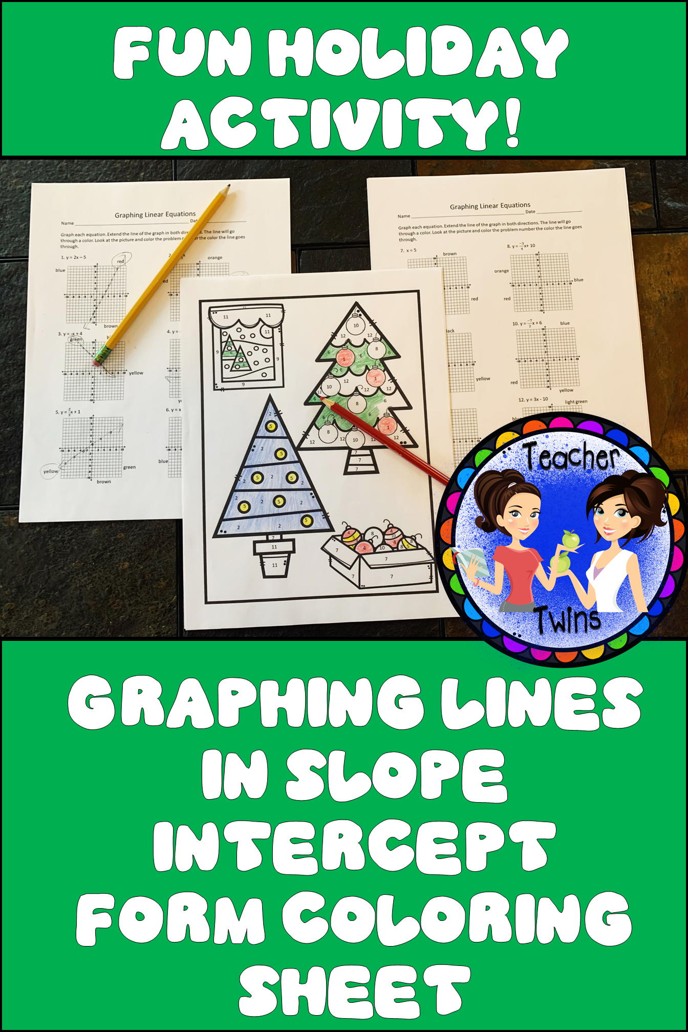 Graphing Lines In Slope Intercept Form Coloring Sheet