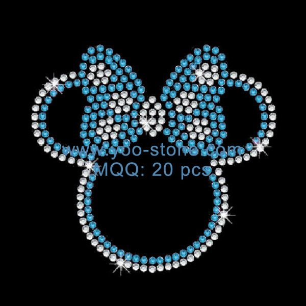 EKOI Iron on Decals for Face Mask 12PC Cute Mouse Rhinestone Transfers Patches Mini Designs Heat Hotfix Embellishment Sparkle Glitter Motif Decorative Designs for DIY Kids T-Shirts Clothing