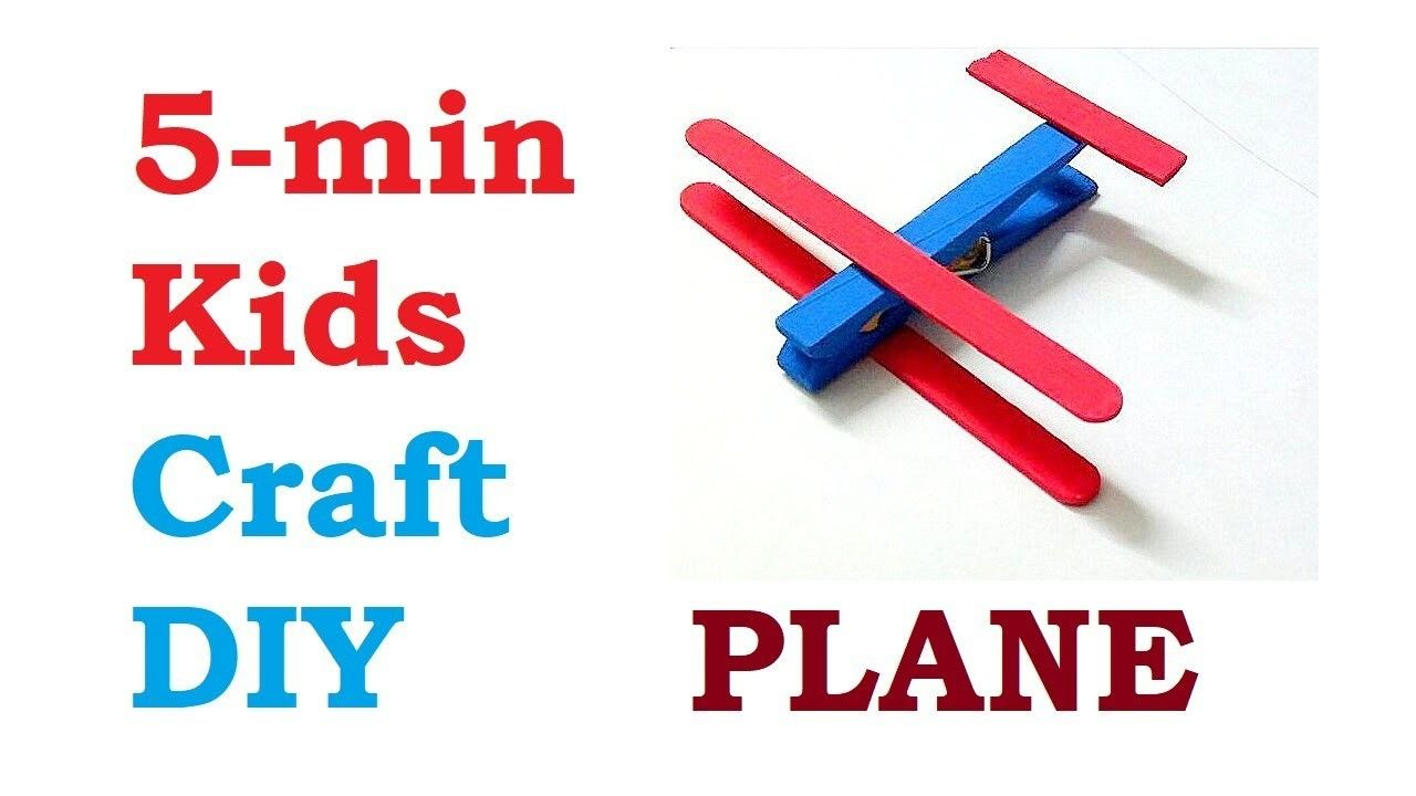 5 Minute Crafts For Kids Fun Diy Easy To Make Plane From Cloths