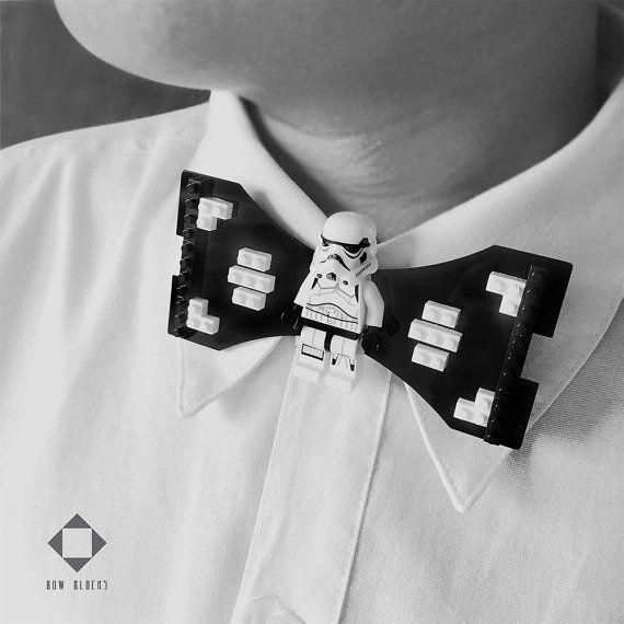 stormtrooper star wars lego bow tie by bowblocks on etsy