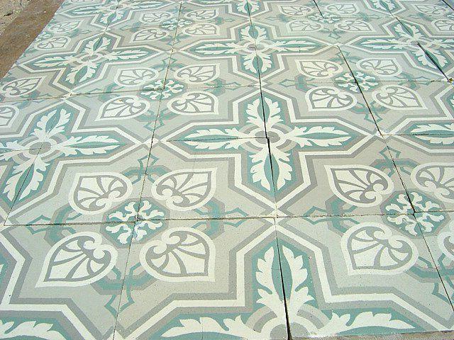 Mint Green Floor Tile Floor In Grey And Mint Green The