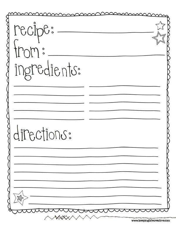 recipe cookbook template