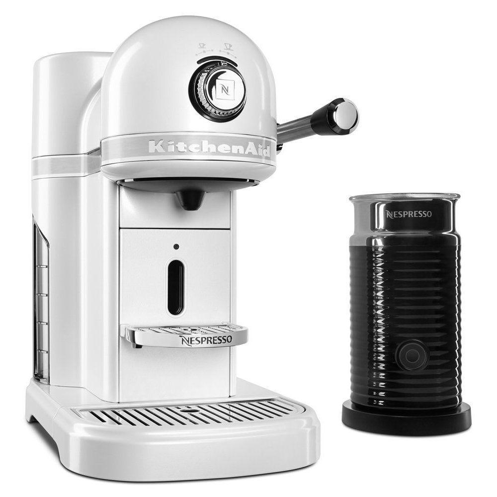 Coffee Machine Deals Kitchenaid Kes0504fp Nespresso Bundle Frosted Pearl White Metal