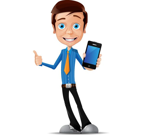 Cartoon Characters Looking Forward : Freebie businessman vector character business