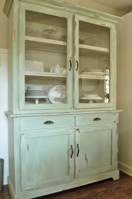 How To Make A New Piece Of Furniture Look Old With Paint And Distressing Kitchen Hutch Reveal Before After Jennifer Rizzo