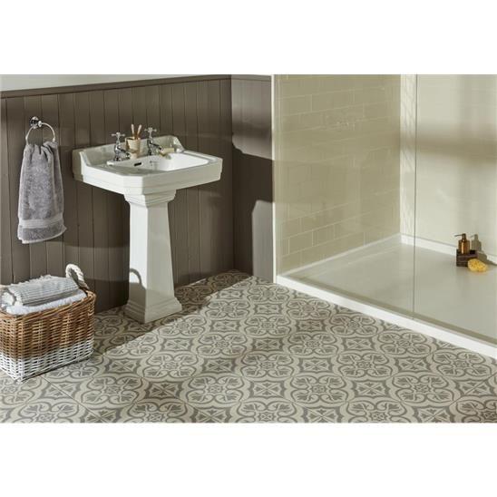 Re Tiling A Bathroom Floor: Knightshayes Light Grey On Chalk Tile