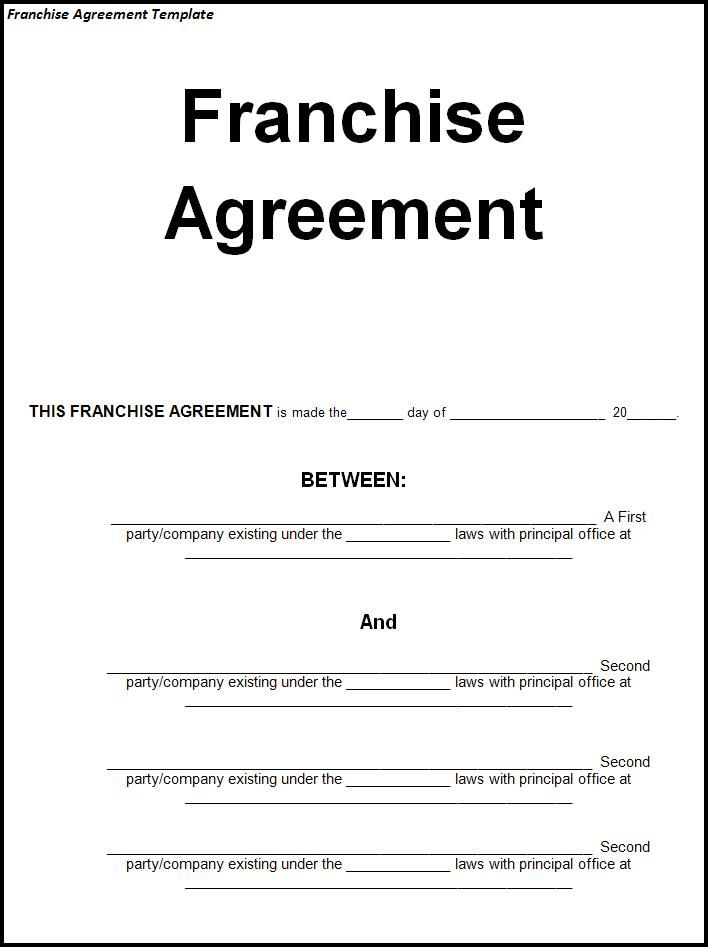I Chose This Picture Because It Represents A Franchise Agreement