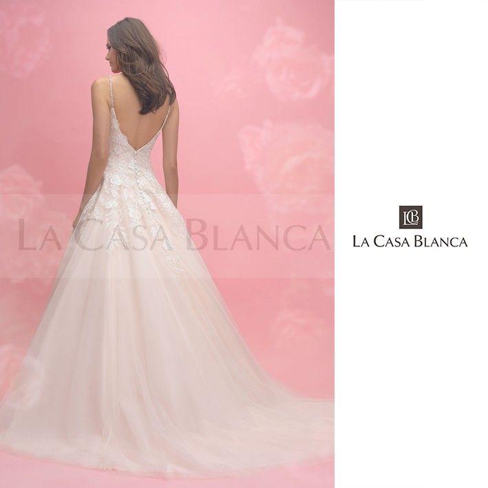 Lindísimo vestido de Allure Bridals 2018 ¡Su espalda es perfecta ...
