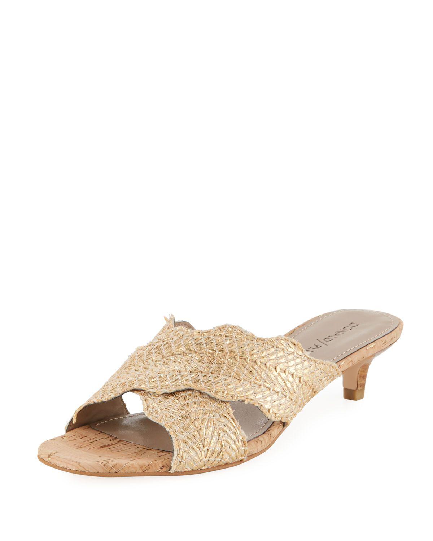 Donald J Pliner Elly Metallic Kitten Heel Mule Sandal Donaldjpliner Shoes Mule Sandals Heeled Mules Sandals Heeled Mules