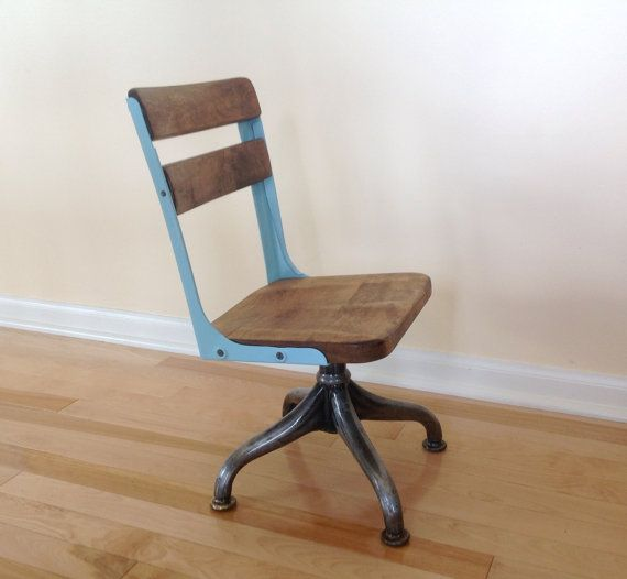 Vintage School Chair 1920s American Seating Company by MindPawed
