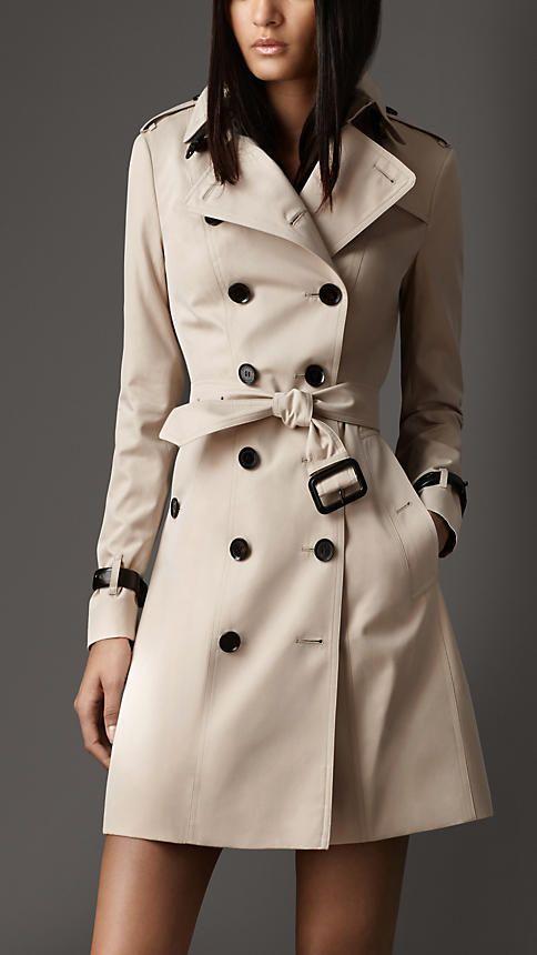 Casaco Trench Coat Clássico Feminino Bege