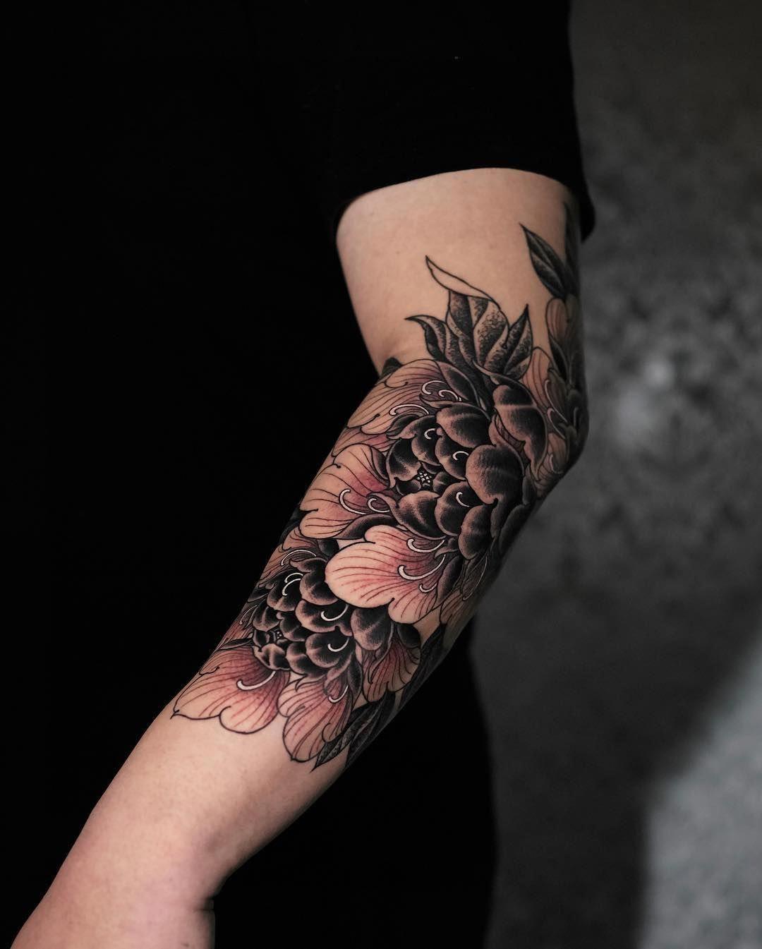 Flower Tattoos Men floralwristtattooguys Men flower