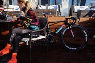 Canyon-SRAM's new Rapha kit was debuted at the team's first camp on the Spanish island of Mallorca this week.