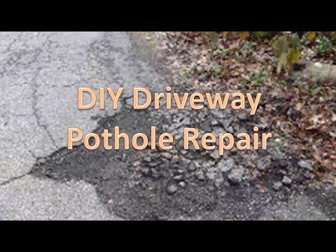 How To Fill Potholes Diy Cheap Youtube Diy Driveway Driveway Driveway Ideas Cheap