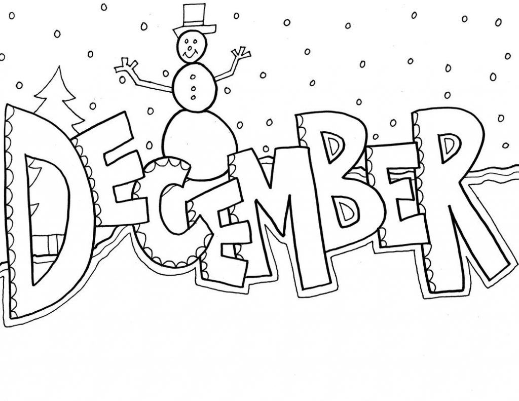 December Coloring Pages Seasons Coloring Pages Pinterest