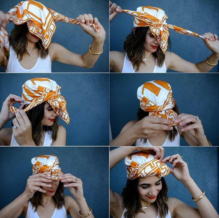 Как завязать тюрбан на голове: 9 простых способов с фото ...