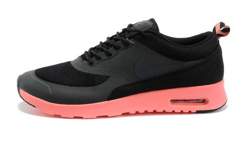 UK Market - Nike Air Max Thea Womens Black Anthracite Salmon Trainers