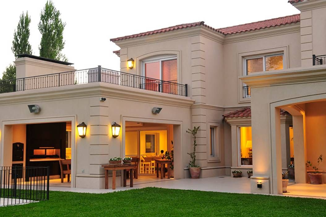 Exteriores casas de estilo por junor arquitectos in 2019 for Fachadas de casas estilo moderno