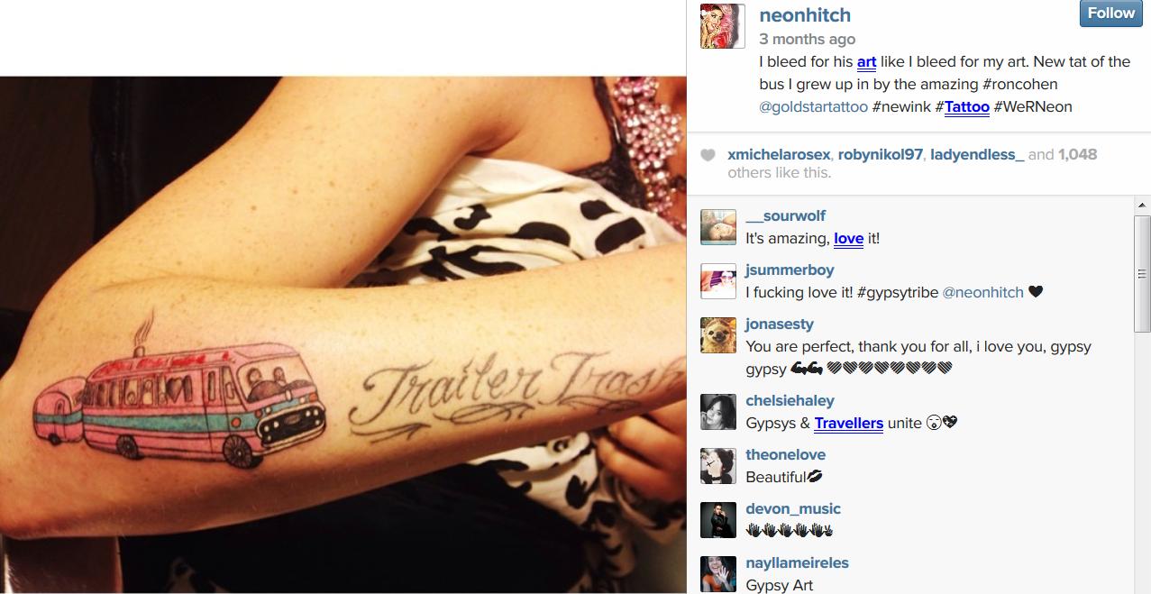 Trailer Trash tattoo