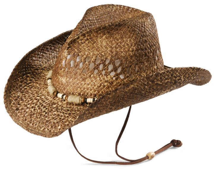 Kenny Chesney jute wrap distressed straw cowboy hat available at #Sheplers