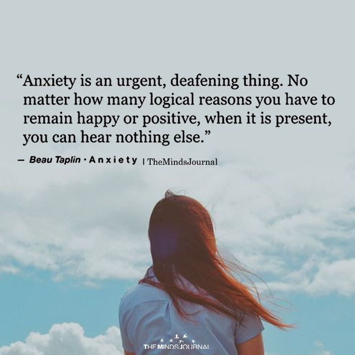 Anxiety Is A Urgent, Defeating Thing