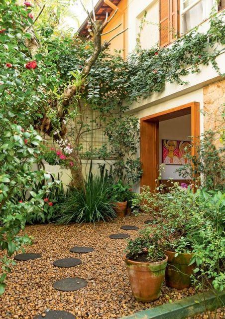 Jardin r stico decoraci n exterior e x t e r i o r balcony garden garden y backyard - Diseno de jardines rusticos ...