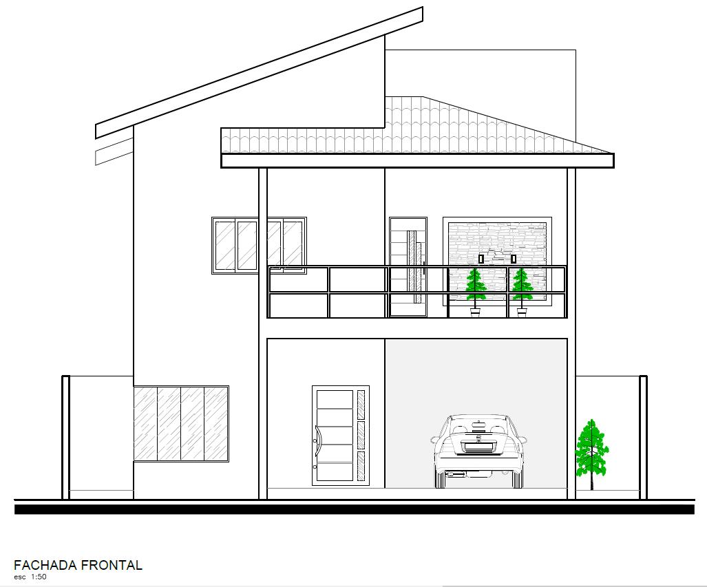 Desenhar Planta Baixa Gratis Fațadă Frontală Arhitectura Pinterest Autocad