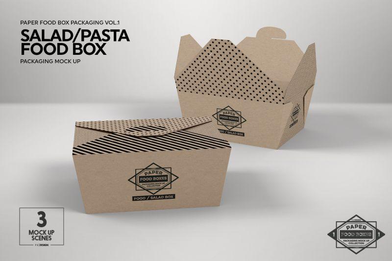 Download Vol 1 Paper Food Box Packaging Mockup Collection Free Packaging Mockup Design Mockup Free Food Box Packaging