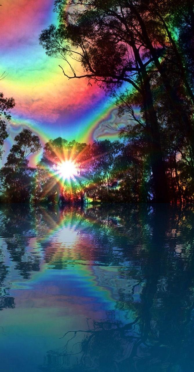 Pureblindingcolour Peaking Light By Pureblindingcolour Trippy Wallpaper Beautiful Nature Nature Wallpaper
