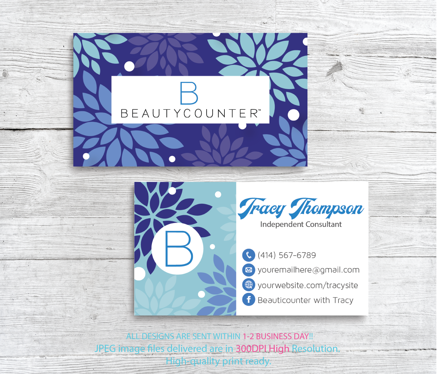 Beautycounter Business Cards Personalized Beautycounter Business Cards Bc18 Floral Business Cards Printable Cards Printable Business Cards