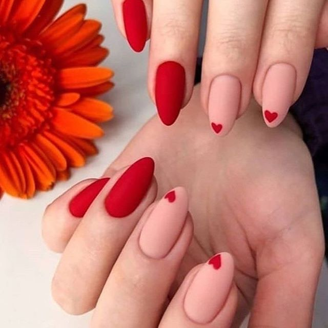 Fascinating Red Nail Designs Styles For 2019 Voguetypes Red Acrylic Nails Summer Acrylic Nails Red Nail Designs