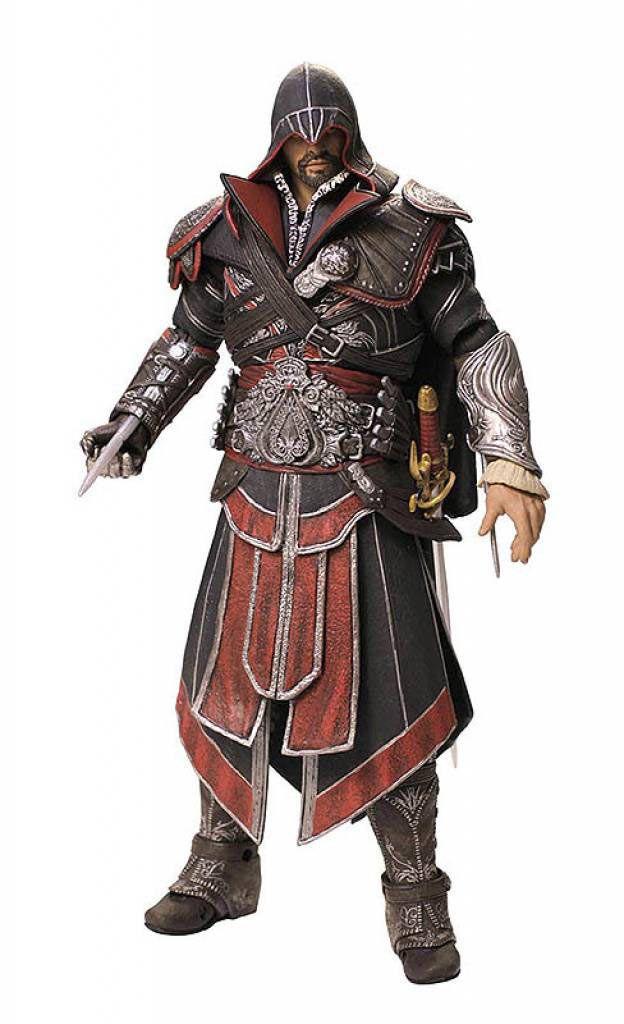 Assassins Creed 7-inch Brotherhood Ezio Hooded Action Figure ebony