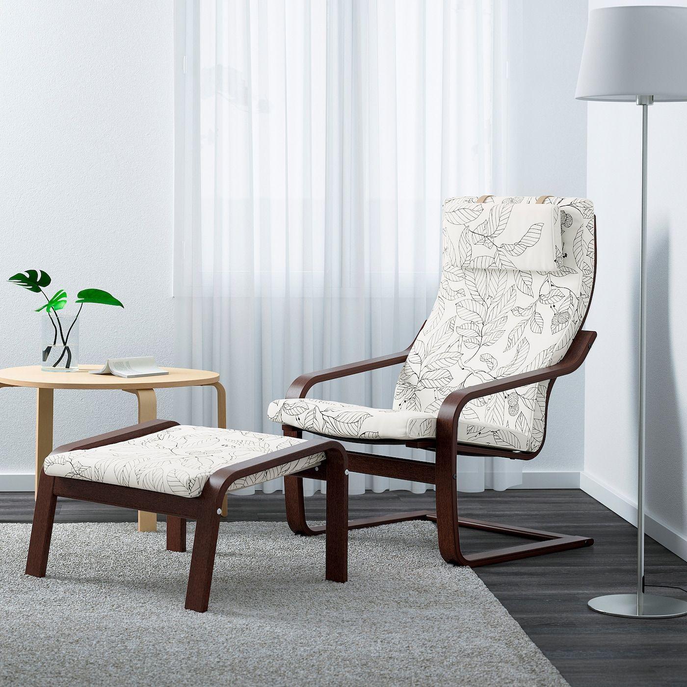 Ikea Poang Armchair Brown Vislanda Black White In 2020