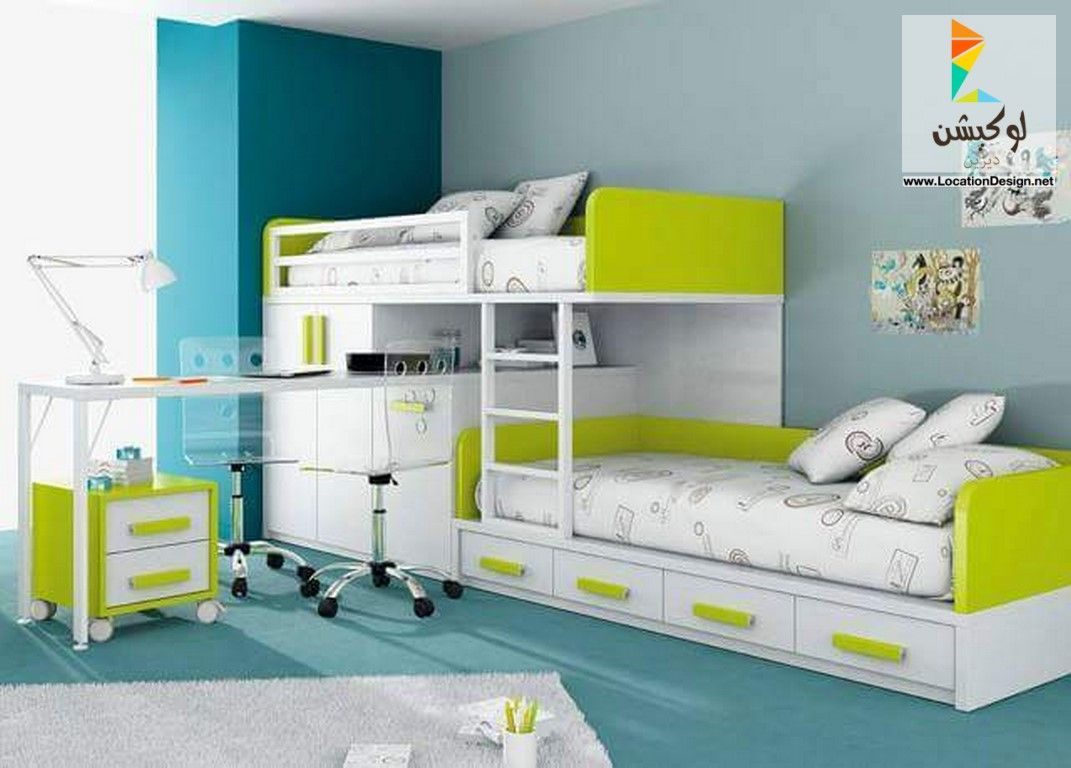 ديكورات غرف نوم اطفال اولاد Kids Beds With Storage Bunk Beds With Storage Cool Bunk Beds