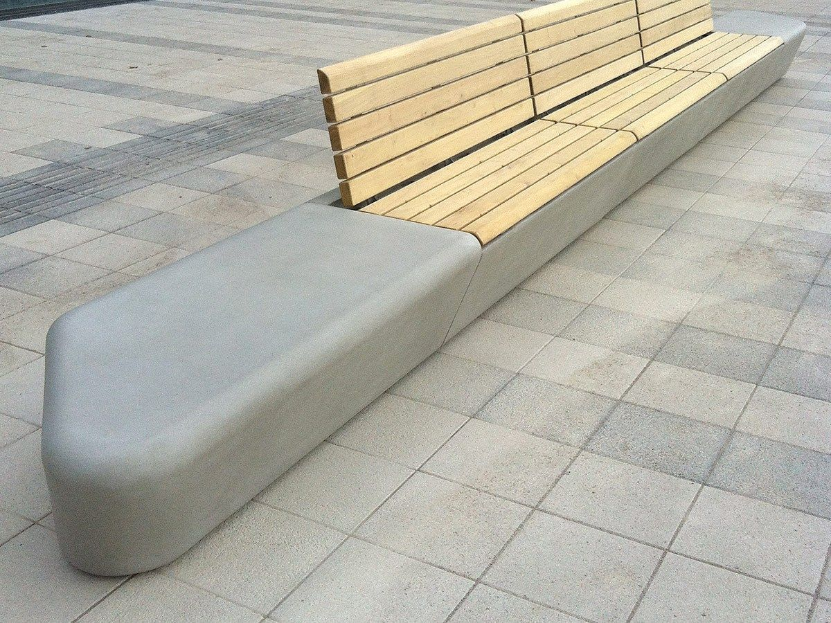 Marvelous Modular GRC Bench ARPA By Concrete Urban Design Design Realgrün Home Design Ideas