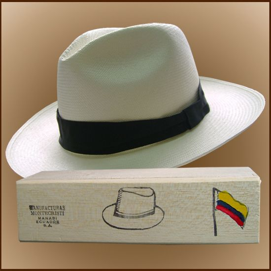 fa19fe2dc6872 Chapéu Panamá Montecristi (7-8) + Caixa de Madeira Balsa