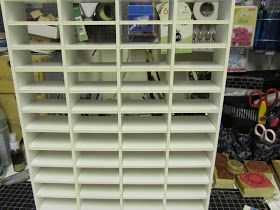 I have for a long time been stressed out about how I have organized my Tim Holtz ink pads. Well not any more... I have made my own storage s...