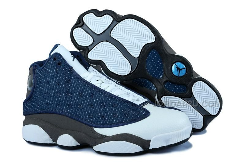 f6b6391b22f897 Air Jordan 13 Retro Flint Grey French Blue University Blue
